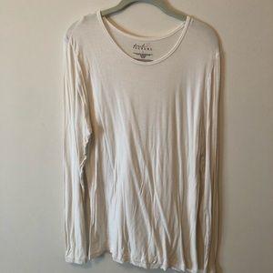 White scrub undershirt